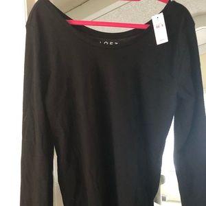Loft round neck T-shirt, Black NWT